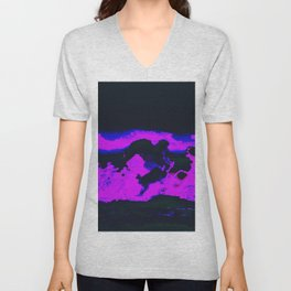 cloud w a chance of glitches Unisex V-Neck