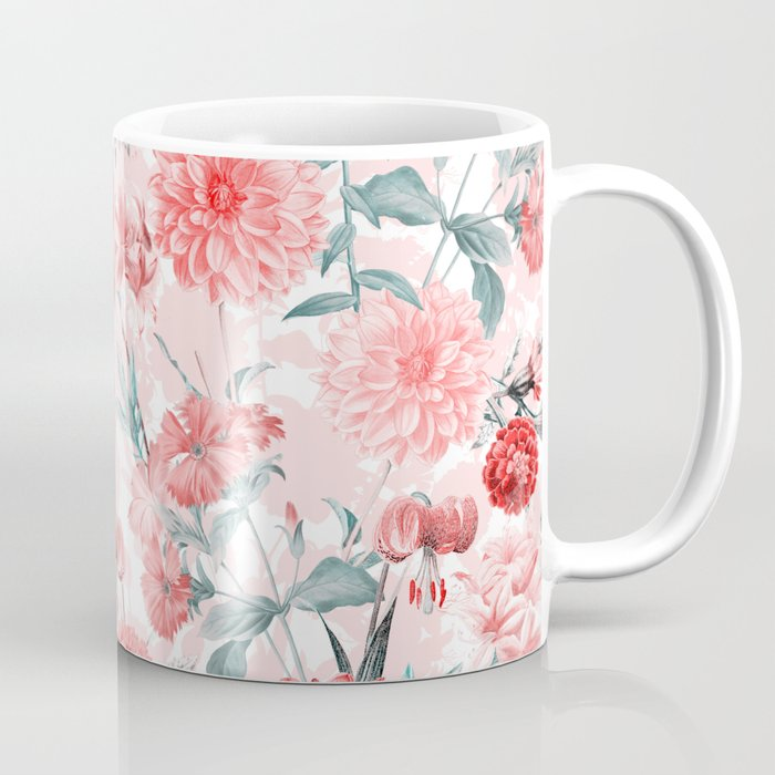 Vintage & Shabby Chic - Rose Blush Garden Flowers Coffee Mug