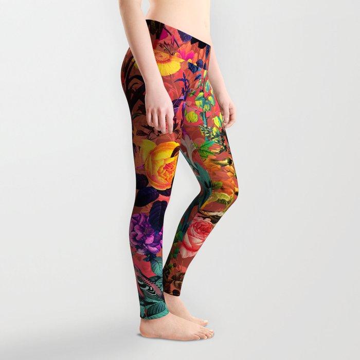 Floral and Birds II Leggings