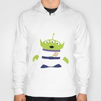 toy story Hoodies featuring Toy Story Alien by TracingHorses
