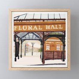 FLORAL HALL Framed Mini Art Print