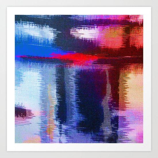 Splat Fabric Art Print
