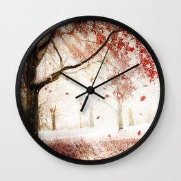 Scarlet and Snow Wall Clock