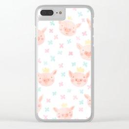 Piggy Prince Clear iPhone Case