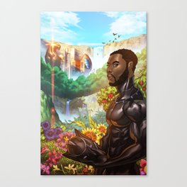 Black Panther the Warrior King Canvas Print