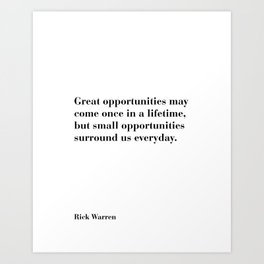 Rick Warren, Rick Warren Quotes, Business Quotes, Motivational, Inspirational, Wall Print, Room Print, Sayings, Text, Gift Art Print