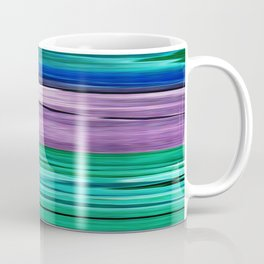Abstract pattern . Lilac blue turquoise . Coffee Mug