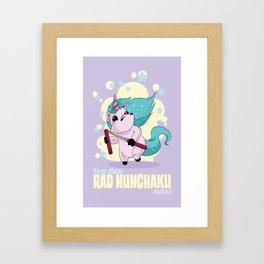 Rad Nunchaku Framed Art Print
