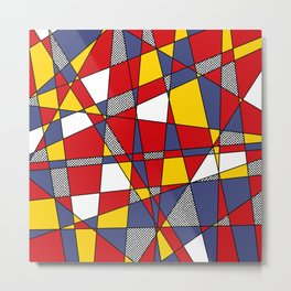 Red, Yellow & Blue Abstract Metal Print