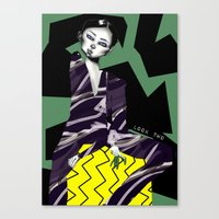 kenzo Canvas Prints featuring Kenzo by pocococoa