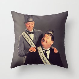 Stan Laurel and Oliver Hardy, Legends Throw Pillow