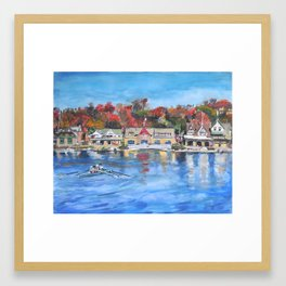 Boathouse Row, Philadelphia Framed Art Print