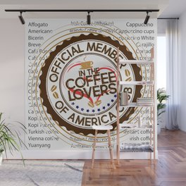 Coffee Lovers of America Club by Jeronimo Rubio 2016 Wall Mural