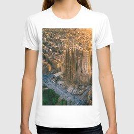 Scale of Sagrada Familia T-shirt