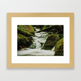 Smoky waters Framed Art Print