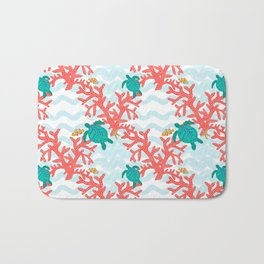 Clowning Around With Sea Turtles on The Reef Bath Mat
