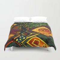 sparkles Duvet Covers featuring GALAXY SPARKLES by Deyana Deco