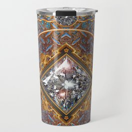 Diamond Cut Steel Travel Mug