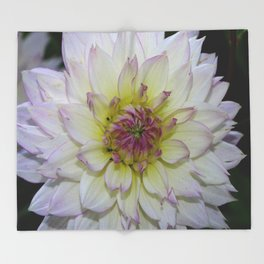 Dahlia Pastel Tones Throw Blanket