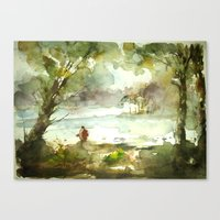 fishing Canvas Prints featuring Fishing by Baris erdem