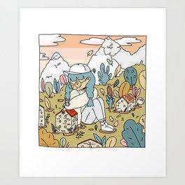 Inspired by Hilda Art Print