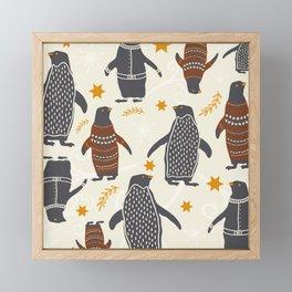 Mary's Penguins Framed Mini Art Print
