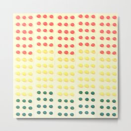 Candy Buttons Metal Print
