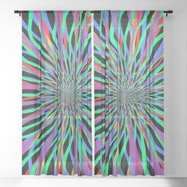 radial layers 8 Sheer Curtain