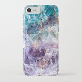 Turquoise & Purple Quartz Crystal iPhone Case