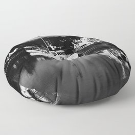 Boats on the Canal Floor Pillow