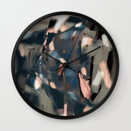 Abstract Fish with an Overbite  Wall Clock