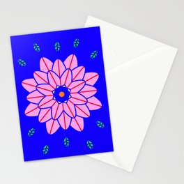 Flower power 1 Klein Blue Stationery Cards