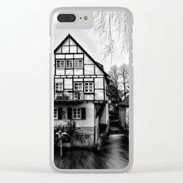 Old timbered house Clear iPhone Case