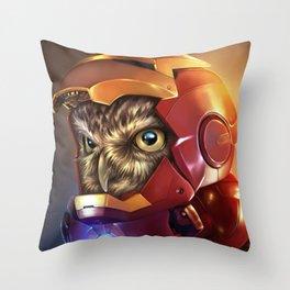 Iron Owl Throw Pillow