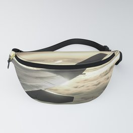 Airplane Above The Clouds, Clouds Landscape, Travel Art Photography Fanny Pack