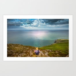Irish sea Bray Art Print