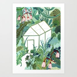 The Jungle Greenhouse Art Print