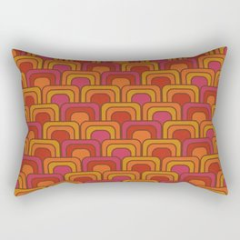 Geometric Retro Pattern Rectangular Pillow