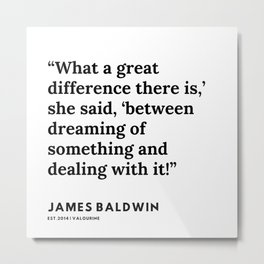 59    |James Baldwin Quotes |  200626 | Black Writers | Motivation Quotes For Life Metal Print