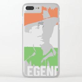 Legend Bhagat Singh Clear iPhone Case