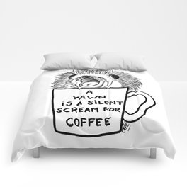 Hedgehog & coffee Comforters