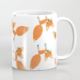 Retro Fox Pattern Coffee Mug
