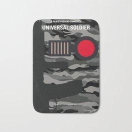 No523 My Universal Soldier minimal movie poster Bath Mat