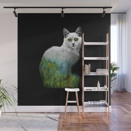 Forest in a cat Wall Mural