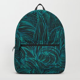 Swirl in Blue, Turquoise and Black Backpack