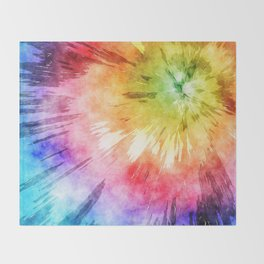 Tie Dye Watercolor Throw Blanket