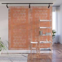 Golden Panel Geometry Wall Mural