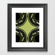 Alligator Mosaic Medallion Framed Art Print