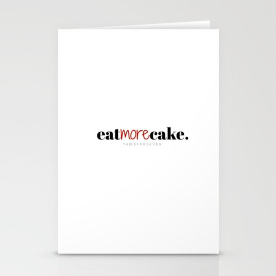 Eat More Cake Stationery Cards
