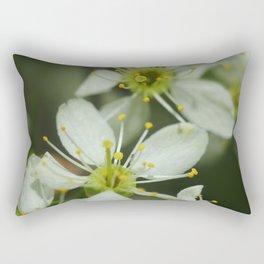 Apple blossom at spring Rectangular Pillow